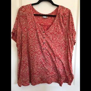 Plus size lucky brand tee shirt